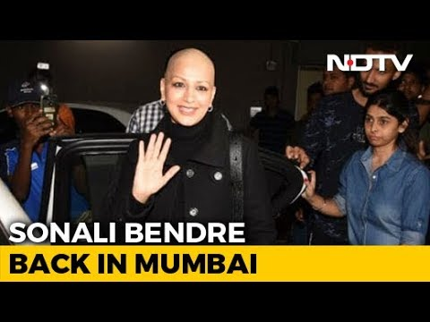 Sonali Bendre Returns To Mumbai After Treatment