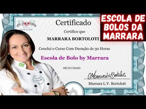Escola de Bolo By Marrara - Aprenda a Fazer Bolos Incrveis! Curso Marrara Bortoloti Canal Oficial