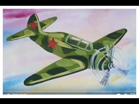 Как легко нарисовать военный самолёт. Небо самолет поэтапно для детей.