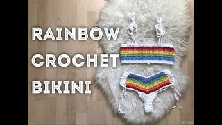 Rainbow Crochet Bikini | Tutorial DIY