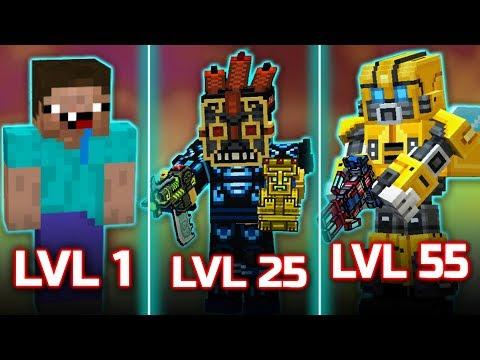 Lv 1 [vs] Lv 25 [vs] Lv 55 - players | Pixel Gun 3D | Noob vs Pro