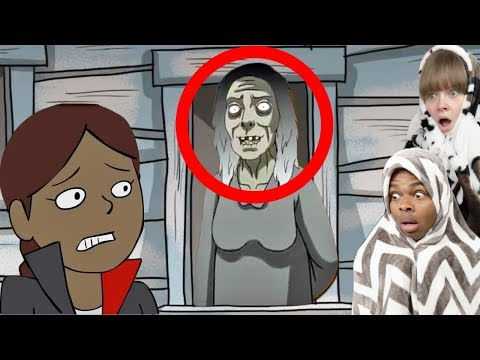 Reacting To True Story Scary Animations Part 17 ft My Girlfriend (Do Not Watch Before Bed)