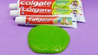 Cách Làm Slime 1 Thành Phần Đơn Giản Với Kem Đánh Răng Colgate