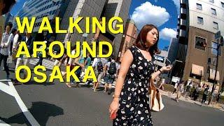 Novatek SJ9000 action camera test and walking around Osaka