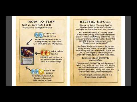 Learn to Play Magicka Mayhem Card Game: Tutorial Video #9 - Helpful Info and Definitions