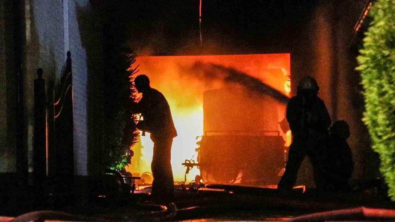 Zeer grote uitslaande brand in Didam