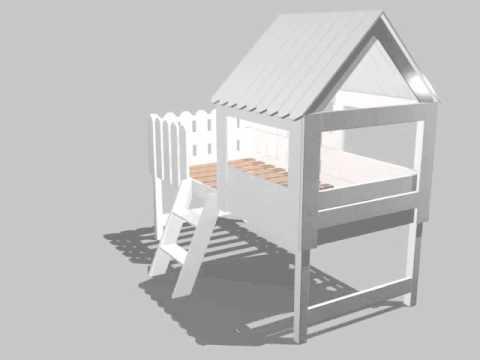 Dannenfelser Kindermöbel GmbH | Spielbett Abenteuerbett BAUMHAUS, inkl. Lattenrost, Massivholz, weiß