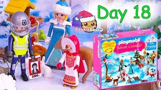 Playmobil Holiday Christmas Advent Calendar Day 18 Cookie Swirl C Toy Surprise Video