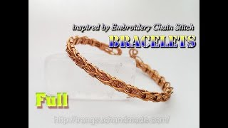 Knot Bracelets From Copper Wire Inspired By Embroidery Chain Stitch - Full Version ( Slow ) 333