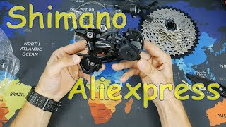 ВЕЛОCHINA №3 - Shimano с Aliexpress: кассета G500-10,переключатель DEORE M6000 SGS, цепь HG54...