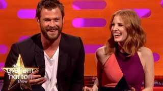 Chris Hemsworth Tried Regifting Jessica Chastain's Gift Back To Her   The Graham Norton Show