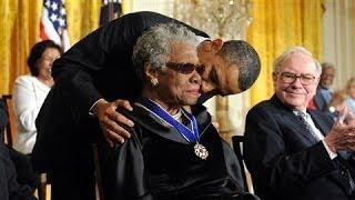 Maya Angelou Receives 2010 Presidential Medal of Freedom