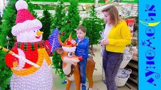 Света и Богдан в торговом центре на Новый год