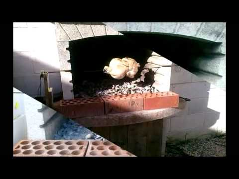 Como hacer un asador giratorio eléctrico para la barbacoa - rustidor