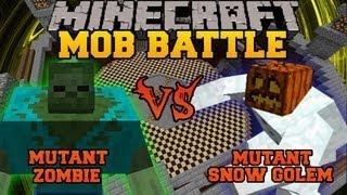 Mutant Zombie Vs Mutant Snow Golem - Minecraft Mob Battles - Mutant Creatures Mod