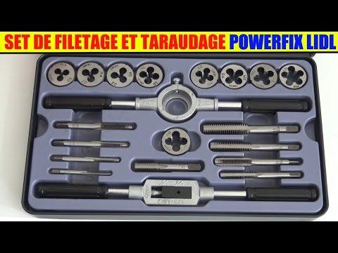 set filetage et taraudage powerfix lidl tap and die Gewindebohrer-/Schneideisen