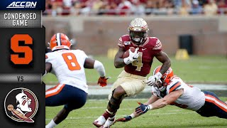 Syracuse Vs. Florida State Condensed Game | ACC Football 2019-20