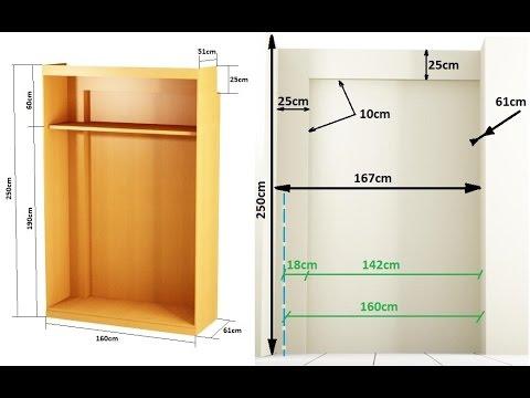 como hacer un armario empotrado entre paredes