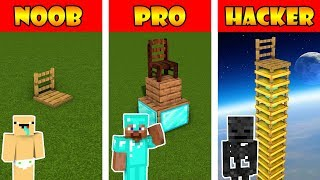 Monster School : BUILDING A CHAIR FOR HEROBRINE COMPETITION - Minecraft s