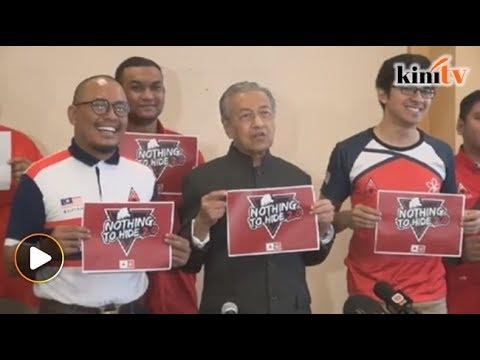 Tun M cabar Najib hadir Nothing To Hide 2.0