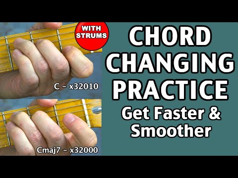 Best guitar practice exercise routine for beginner fast smooth chord ...