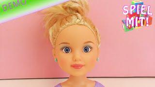 My Model Schminkkopf Demo – Make up und Frisur für den kleinen Schmink Kopf – mit Lidschatten