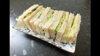 English Afternoon Tea Sandwiches Cucumber & Dill Finger Sandwich Recipe