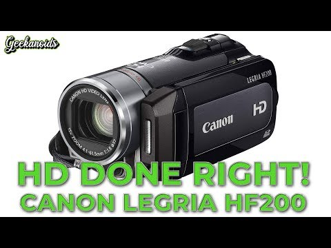 Canon Legria HF200 - Part 1 - Unboxing & Initial Look