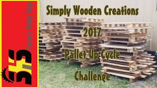 2017 Pallet Up Cycle Challenge - Pallet Wood End Table/Book Case