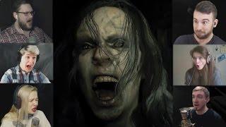 """""""Реакции Летсплейщиков"""" на Нападение Мии из Resident Evil 7"""