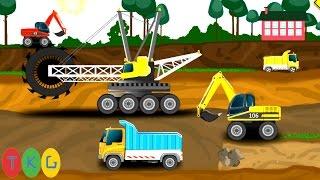 Xe cần cẩu, Xe xúc đất, Xe Cứu Thương - Cứu Hỏa | TopKidsGames