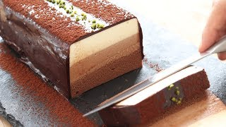 No-Bake Chocolate Cheesecake*Eggless & Without Oven チョコレート・レアチーズケーキの作り方|HidaMari Cooking