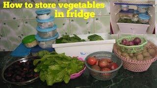 How to store vegetables in fridge / Indian kitchen tips /Amita ki KITCHEN se