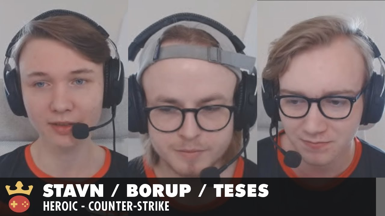 Video of Interview with stavn, b0RUP, and TeSeS from Heroic at IEM Katowice 2021