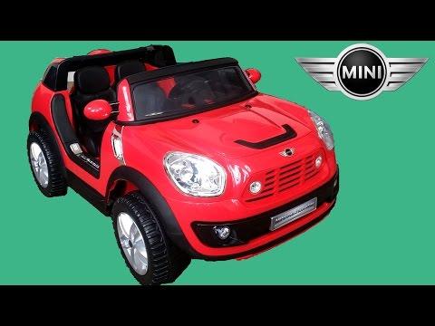 Mini Cooper Beachcomber Kids Ride On Walkaround | 12V Power Wheels Review Demonstration