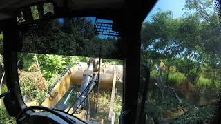 953 cat track loader clearing land