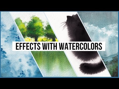 create effects with watercolor painting techniques by makoccino