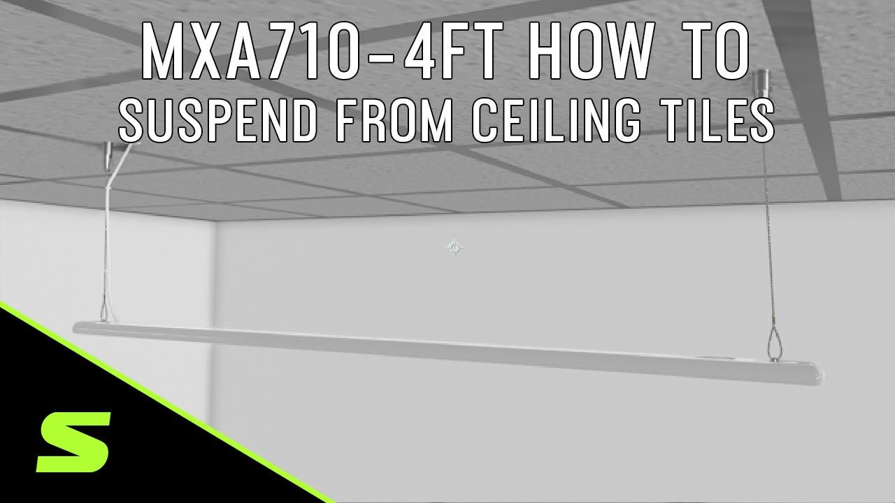 MXA710-4FT How to Suspend from Ceiling Tiles with 2 A710-TB Tile Bridges