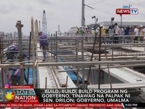 [GMA]  SONA: Build, build, build program ng gobyerno, tinawag na palpak ni Sen. Drilon; Gobyerno, umalma