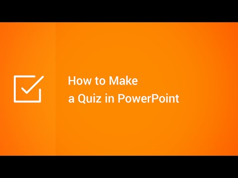 How to Make a Quiz in PowerPoint - YouTube