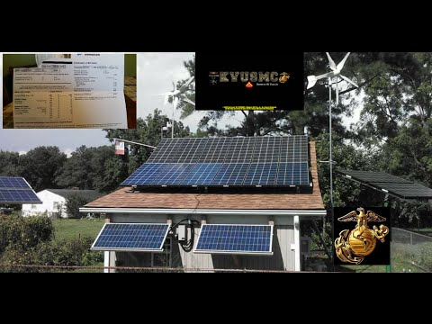 Solar And Wind Home Power  2 kWh Power Bill January 2016 BY KVUSMC