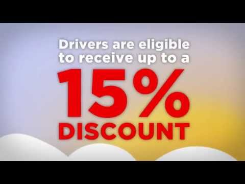 Drivers are eligible to receive up to a 15% discount