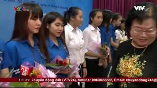 VTV1 đưa tin về lễ trao giải các vòng thi trắc nghiệm cuộc thi Học và làm theo tấm gương Bác