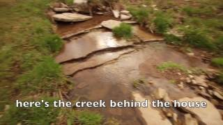 Log Cabin w Creek in Kentucky Small house Log home prepper survivalist