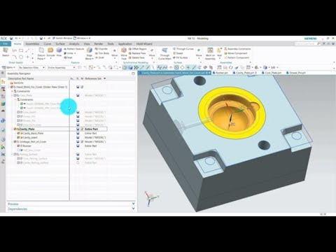 NX 10 Mold Design - Part 1 Cavity and Core advanced