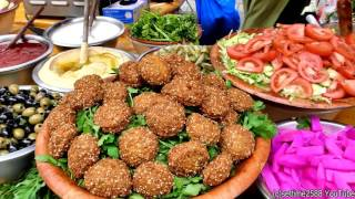 Falafel Wraps from Lebanon Tasted in London. Street Food of Camden Town