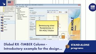 Dlubal RX-TIMBER Column - Designing a Hinged Column