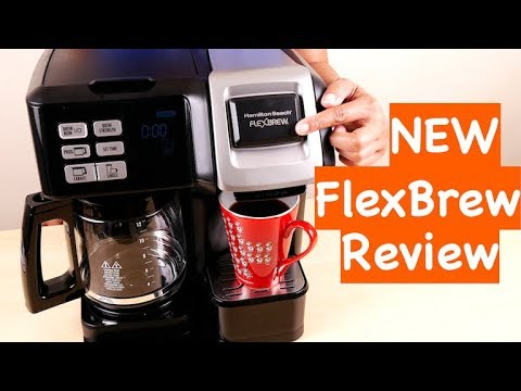 , Hamilton Beach (49976) Coffee Maker, Single Serve & Full Coffee Pot, Compatible with K-Cup Packs or Ground Coffee, Programmable, FlexBrew, Black