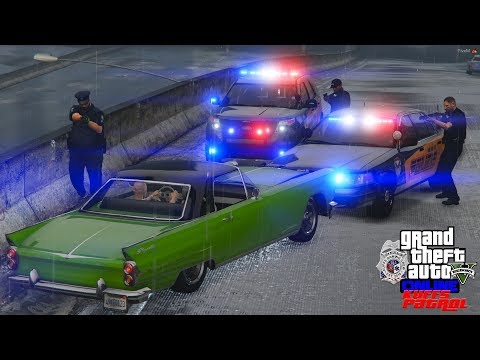 GTA 5 FiveM Police Roleplay Perfect Pit Maneuver Stops To Old Men Running - KUFFS Multiplayer #167
