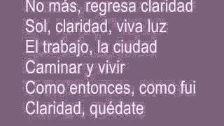 Claridad Luis Fonsi con letra
